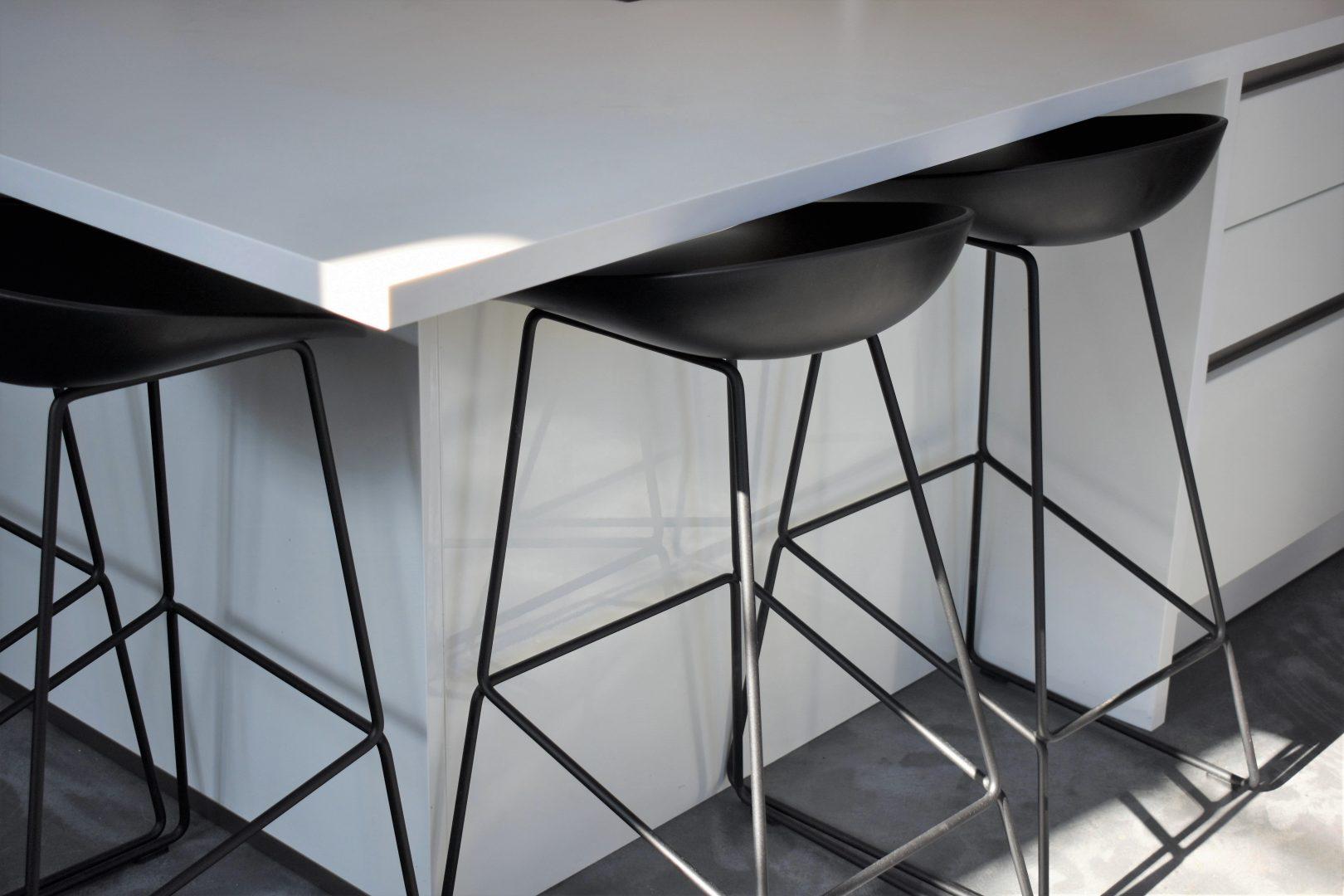 monochrome modern kitchen
