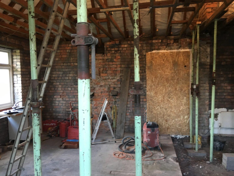 Modern Kitchen Garage Conversion - Before