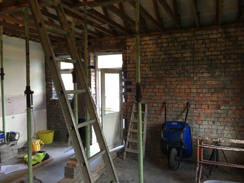 Conversion from Old Garage to Modern Kitchen