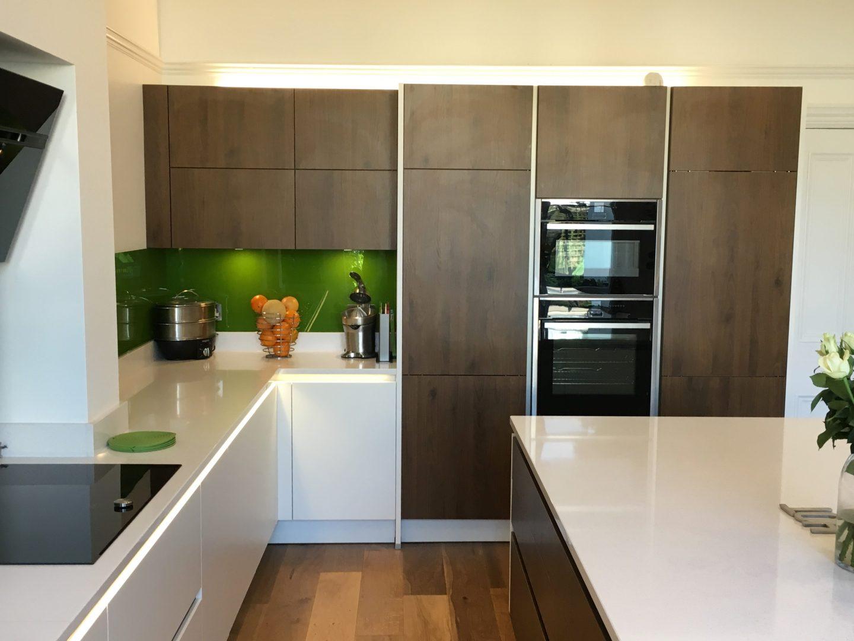 Walnut wooden kitchen
