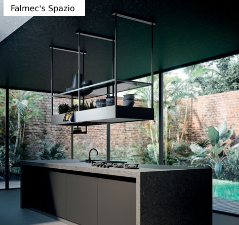 Falmec's Spazio ceiling extractor as seen in our showroom on Whiteladies Road.
