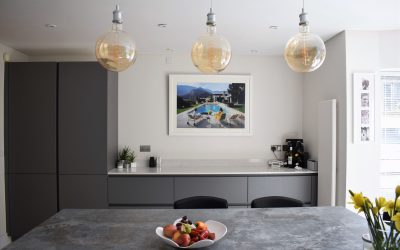 DARK GREY CONTEMPORARY KITCHEN