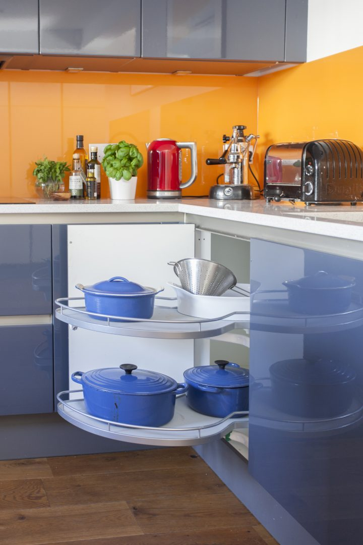 Colourful orange kitchen