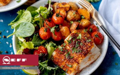 Cajun Crusted Cod With Spiced Garlic Potatoes Recipe