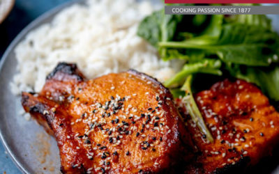 OVEN BAKED KOREAN PORK CHOPS