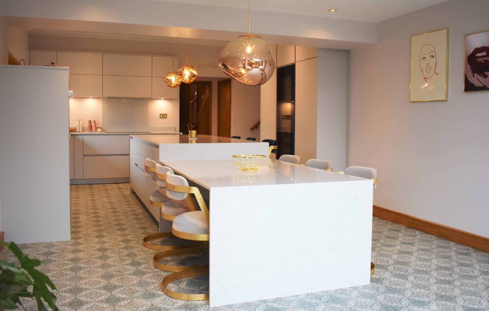 Gold and Silk Grey Kitchen Fitted By The Kitchen Partners